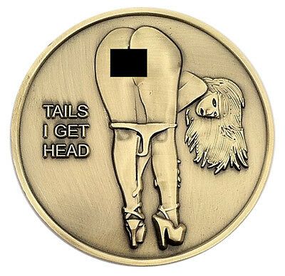 PinUp Babe Good Luck Heads & Tails Challenge Coin Art US SELLER
