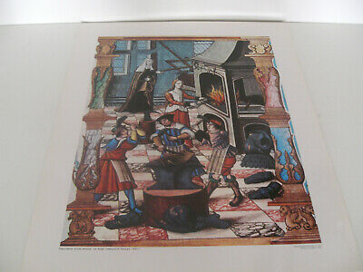 Ancienne Planche Affiche Poster Photo Fabrication Armure Forge