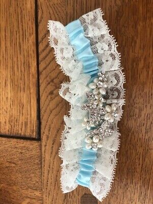 Alan Hannah Devoted Crystal Floral Lace Garter, New without tages