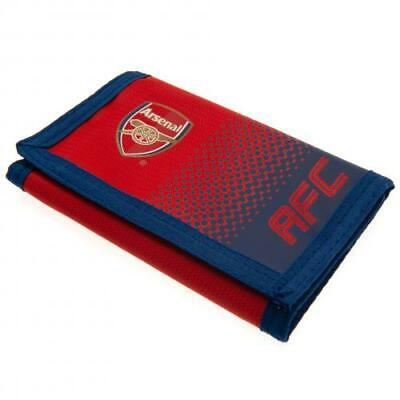 Arsenal FC Nylon Wallet Official Merchandise Red Gunners Money Wallet Zipped