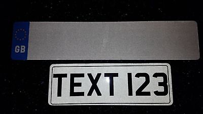 13 x 4,5 Text Plate Short And Small Novelty Car Plate White . Not Number Plate