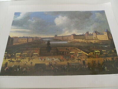 Ancienne Planche Affiche Poster Photo Scolaire Pont Neuf Vers 1665