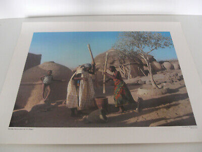 Ancienne Planche Affiche Poster Photo Scolaire Femme Djerma Niger