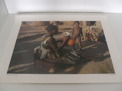 Ancienne Planche Affiche Poster Photo Scolaire Fabrication Beurre Niger