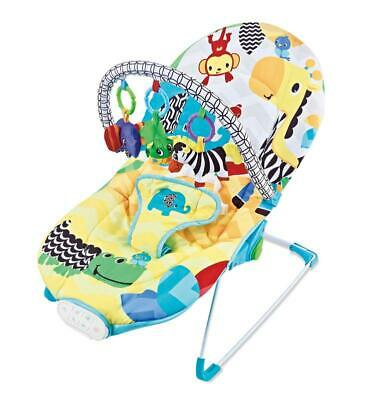 Baby Rocker Animal Bouncer Chair Comfort Kingdom With *3 Position Seat Recline*