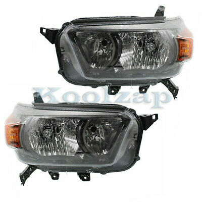 For 10-13 4Runner w/Trail Package Front Halogen Headlight Headlamp Set Pair