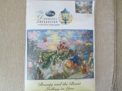 NEW Disney Dreams Collection BEAUTY AND BEAST Cross Stitch Kit Thomas Kinkade
