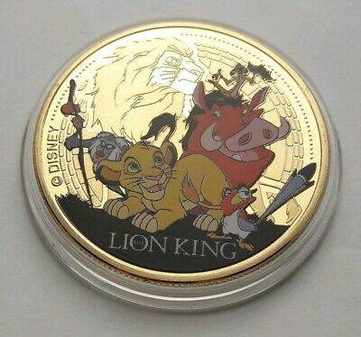 The Lion King - Disney Classics Collection - 24 Carat Gold Plated Coin / Medal