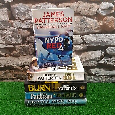 5  X James Patterson Fiction Books Bundle Burn,NYPD Red 4 Free P&P