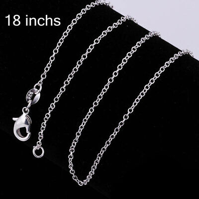 "5pcs/lot Stunning 925 Sterling Silver Snake Chain Necklace 1mm 18"" Rolo Chain"