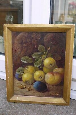 Genuine antique British Oil Painting Still Life by Vincent Clare 1855-1930