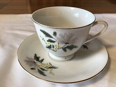 Vintage  Tea Cup & Saucer Made In China