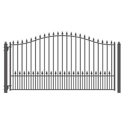 ALEKO Munich Style Ornamental Iron Wrought Single Swing 18' Driveway Gate