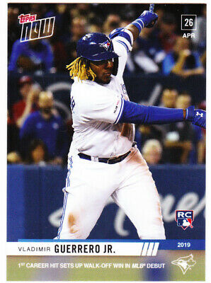 2019 Topps Now Vladimir Vlad Guerrero Jr. #137 Blue Jays ROOKIE CARD RC Debut