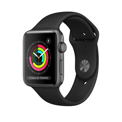 OPEN BOX NEW Apple Watch Series 3 42mm Space Gray Aluminum Case (GPS) FAST SHIP