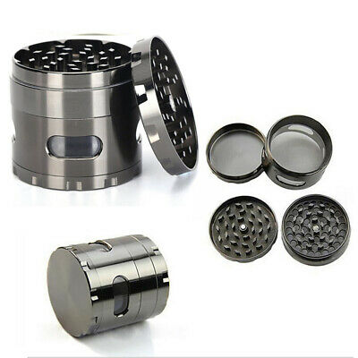 2pcs Tobacco Smoke Grinder Zinc Alloy Hand Crank Herb Mill Crusher 55mm Spice