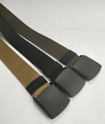 3pc 47''1.5'' Waistband Weave Waist Belts Buckle Military Web Canvas For Fat Man