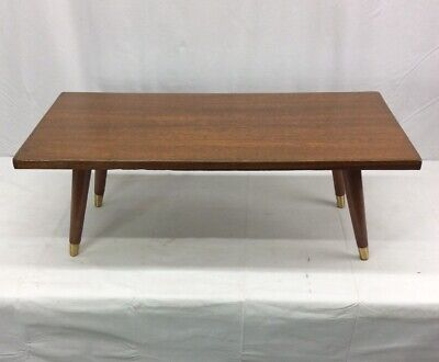 Vintage Mid Century Danish Modern Coffee Table Tapered Legs 36u201dx17u201dx13u201d