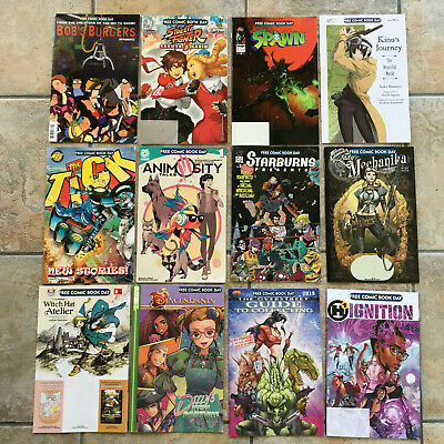 FCBD FREE COMIC BOOK DAY 2019 (12) Book LOT Unstamped Spawn Street Fight Tick +