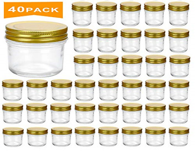 c51e668552c3 ENCHENG 4 OZ Glass Jars With Airtight Lids And Leak Proof Rubber ...