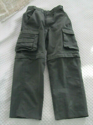 Boy Scouts Official Uniform Cargo Convertible switchback Pants Youth 8 Green