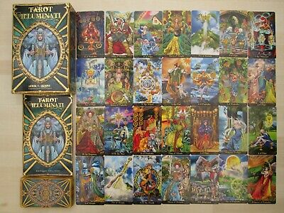 """TAROT ILLUMINATI "" Beautiful Oracle Cards and Book boxed set by Erik C. Dunne."