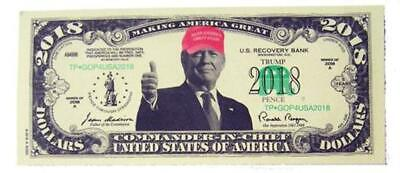 Donald Trump 2018 Red Hat Dollar bill + Free GIFT. FAKE MONEY. Awesome!!