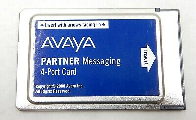 Avaya Partner Messaging 4-Port License Card Voicemail VM 515B1 700262462 Tested