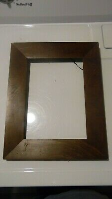 """RARE 19th Century Wood Mahogany Veneer EMPIRE Picture Frame 13 1/2"""" by 10 1/2"""""""