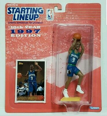 STEPHON MARBURY Timberwolves Kenner Starting Lineup SLU 1997 NBA Figure UDC Card