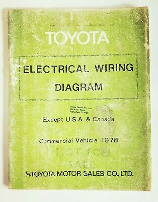 toyota electrical wiring diagram commercial vehicle 1978 manual, 98920  (9523)