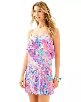 b4985ab5d76f9 $118 NWT LILLY Pulitzer Margarete Cover Up Dress Light Pascha Pink ...