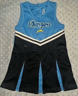 Los Angeles Chargers NFL Infant & Toddler Cheerleader Style Skirt Dress Bottoms
