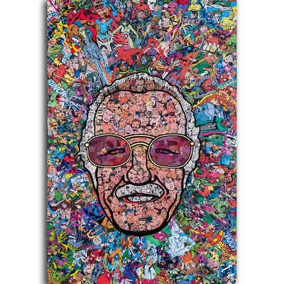 30 24x36 Poster Marvel Comics Classic Stan Lee Collage Funny T-389