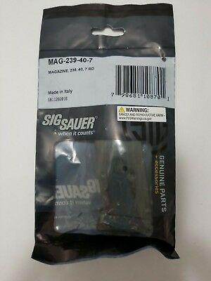 Sig Sauer P239 40S&W 7rd Magazine Matte Finish Made in Italy MAG-239-40-7