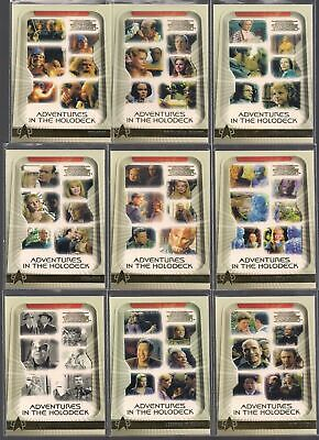 Star Trek Voyager - Adventures in the Holodeck - Complete 9 Card Chase SET - NM