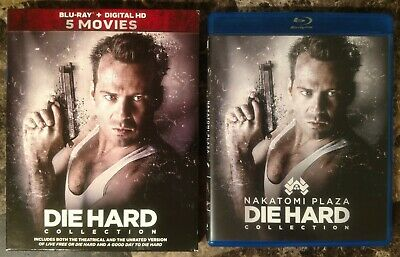 Die Hard: 5-Movie Complete Collection 2017 6-Disc Blu-ray Box Set w Slipcover