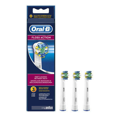 Oral-B Floss Action Replacement Toothbrush Heads | Powered by Braun EB25-3