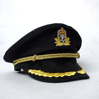 Unisex Sailor Hat for Officer Night Nautical Fancy Dress Captain Cap Cotton US
