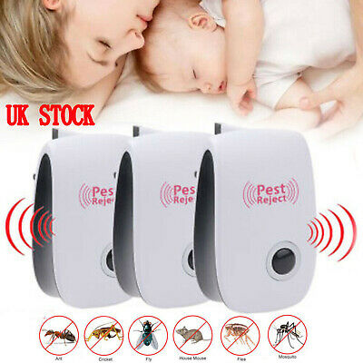 5PC Plug-in Electronic Ultrasonic Anti Rat Mouse Bug Mosquito Flea Pest Repeller