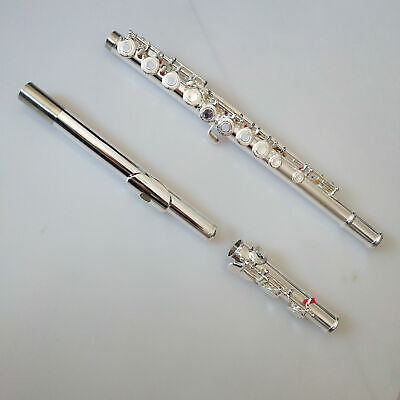 Spring Pine Flute with Cases Silver White Copper Tube Carved