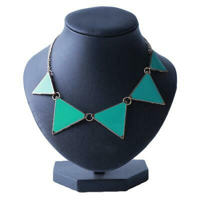 Women Geometric Triangle Pendant Chain Choker Statement Bib Necklace LA