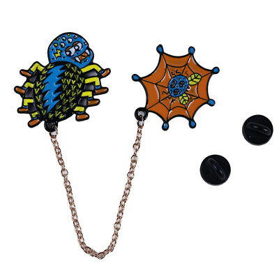 Funny Spider Mermaid Butterfly Shape Backpack Wild Lapel Badge Brooches SW