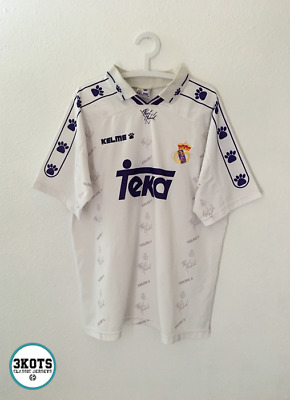 1b6392ee6 Real Madrid 1994/96 Home Football Shirt L Soccer Jersey Vintage Kelme