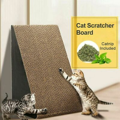 Triangle Cat corrugated Scratcher Pet Claw Scratching Board Bed Toy Mat Post