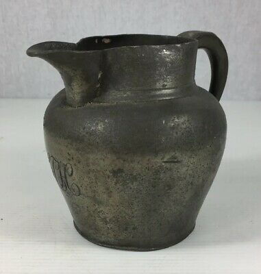 Rare Antique 17th/18th Century Pewter Jug 11cm In Height
