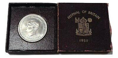 1951 Festival of Britain George VI Crown Coin Original Box & Certificate