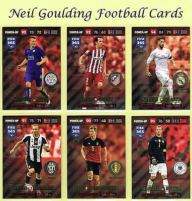 Panini FIFA 365 2016-2017 ☆ POWER UP ☆ Football Insert Cards #352 to #387