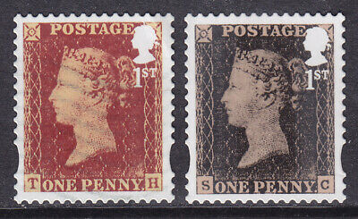 2015 1st Penny Black SG 3709 & 2016 1st Penny Red SG 3806 Fine Used Stamps