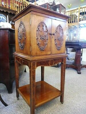 Stunning Edwardian Walnut Cabinet On Stand